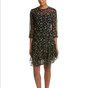 Donna Morgan 3/4 sleeve A-line floral dress